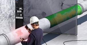 Pipecheck von Creaform ermöglicht die Beurteilung der Oberflächenkorrosion für komplette Rohrverbindungen