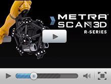 MetraSCAN 3D R-Series lo scanner 3D montato su robot per ispezioni automatizzate